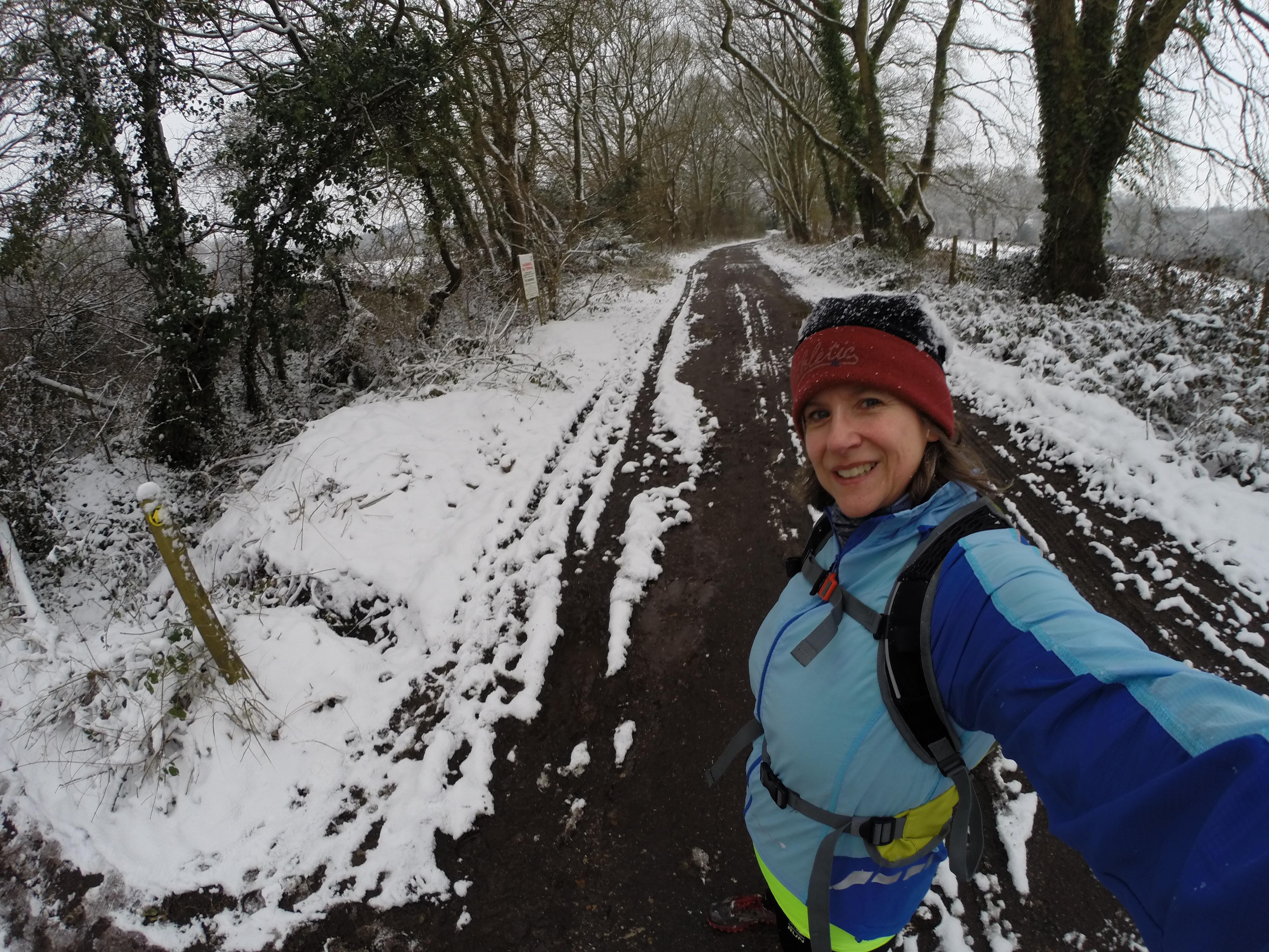 A snowy run