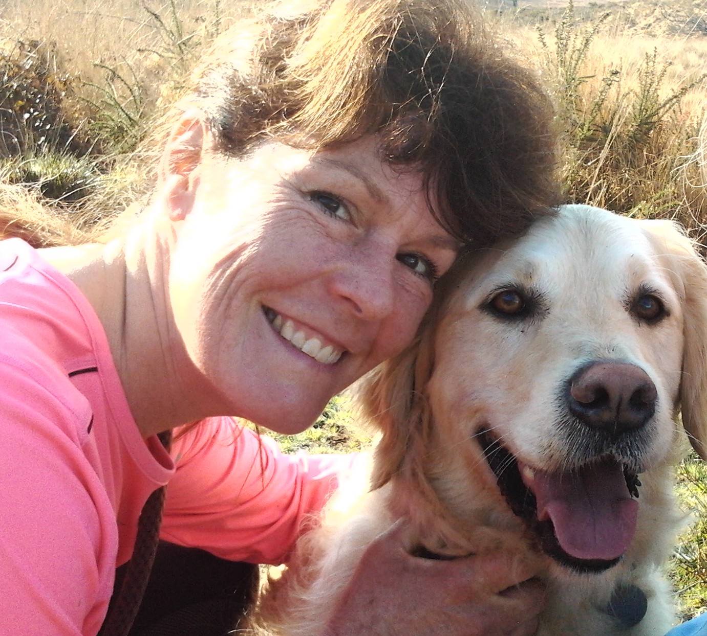 Ruth with her trusty running companion, Murphy